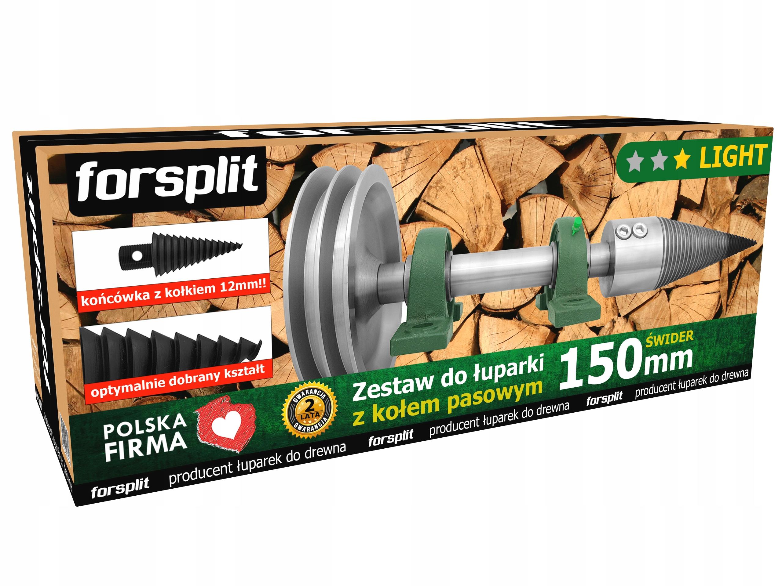 Rozdeľovač dreva pre 150 mm drevo s pásovým kolesom