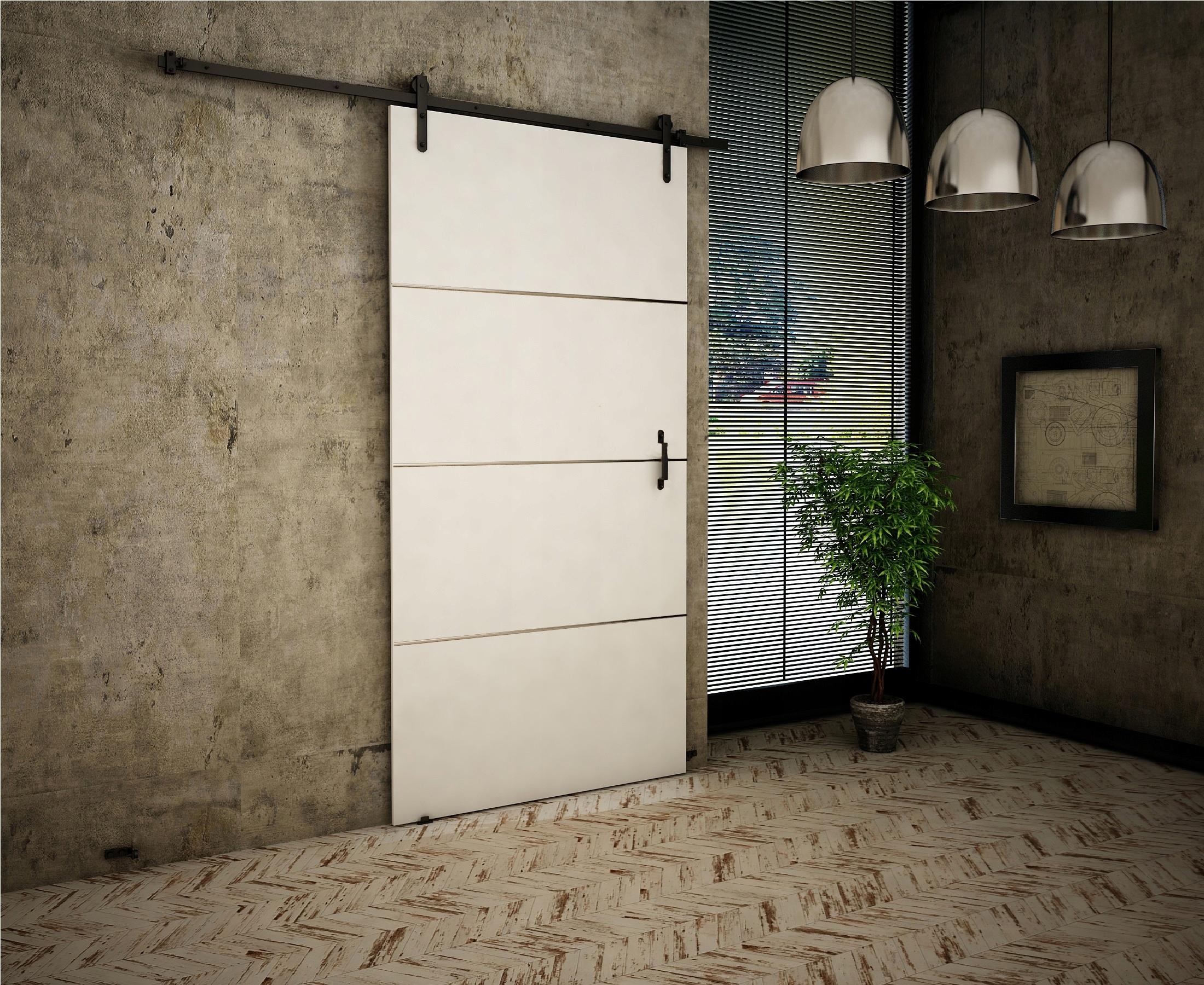 Dvere v starom štýle 90 White Retro