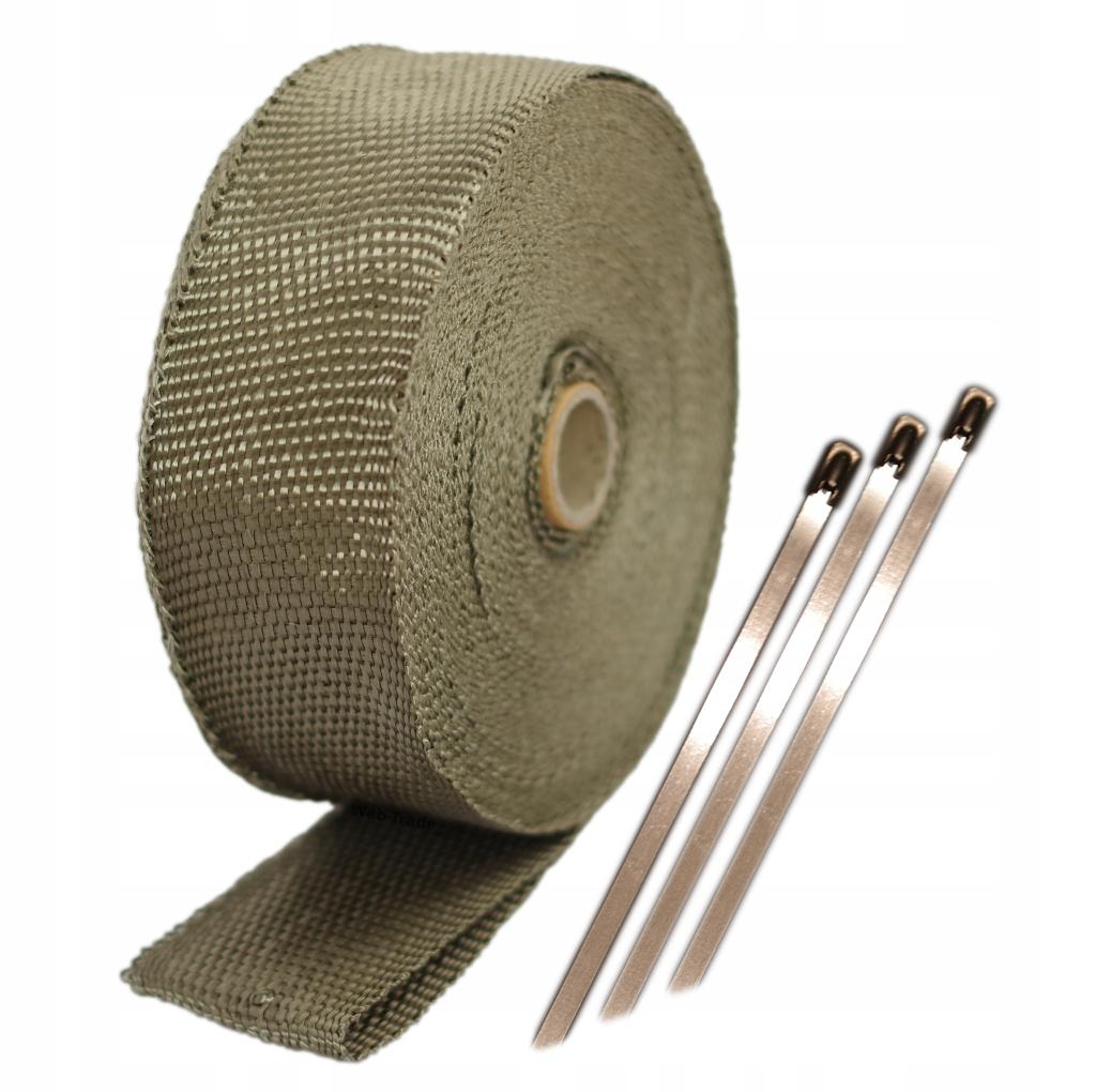 Базальтовая теплоизоляции лента повязка 10м +повязки