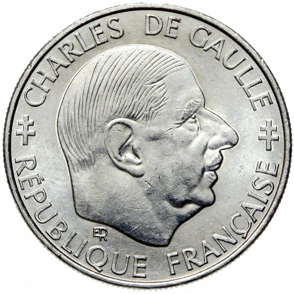 Francúzsko - mince - 1 Frank 1988 Charles de Gaulle