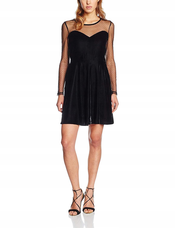 Sukienka Morgan 162-RIKA.N damska czarna aksamit S