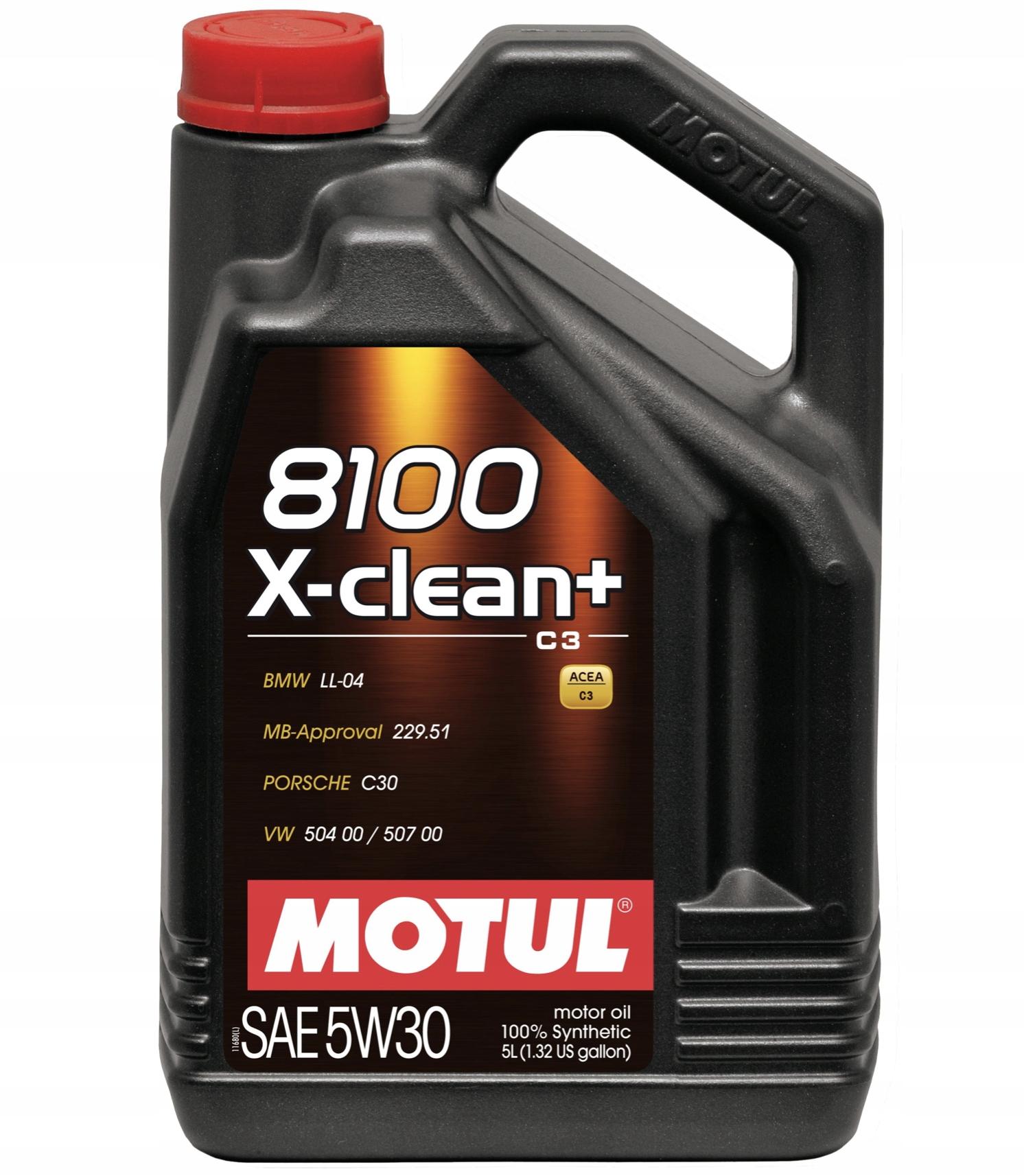 OLEJ SYNTETYCZNY MOTUL 8100 X-CLEAN+ C3 5W30 5L