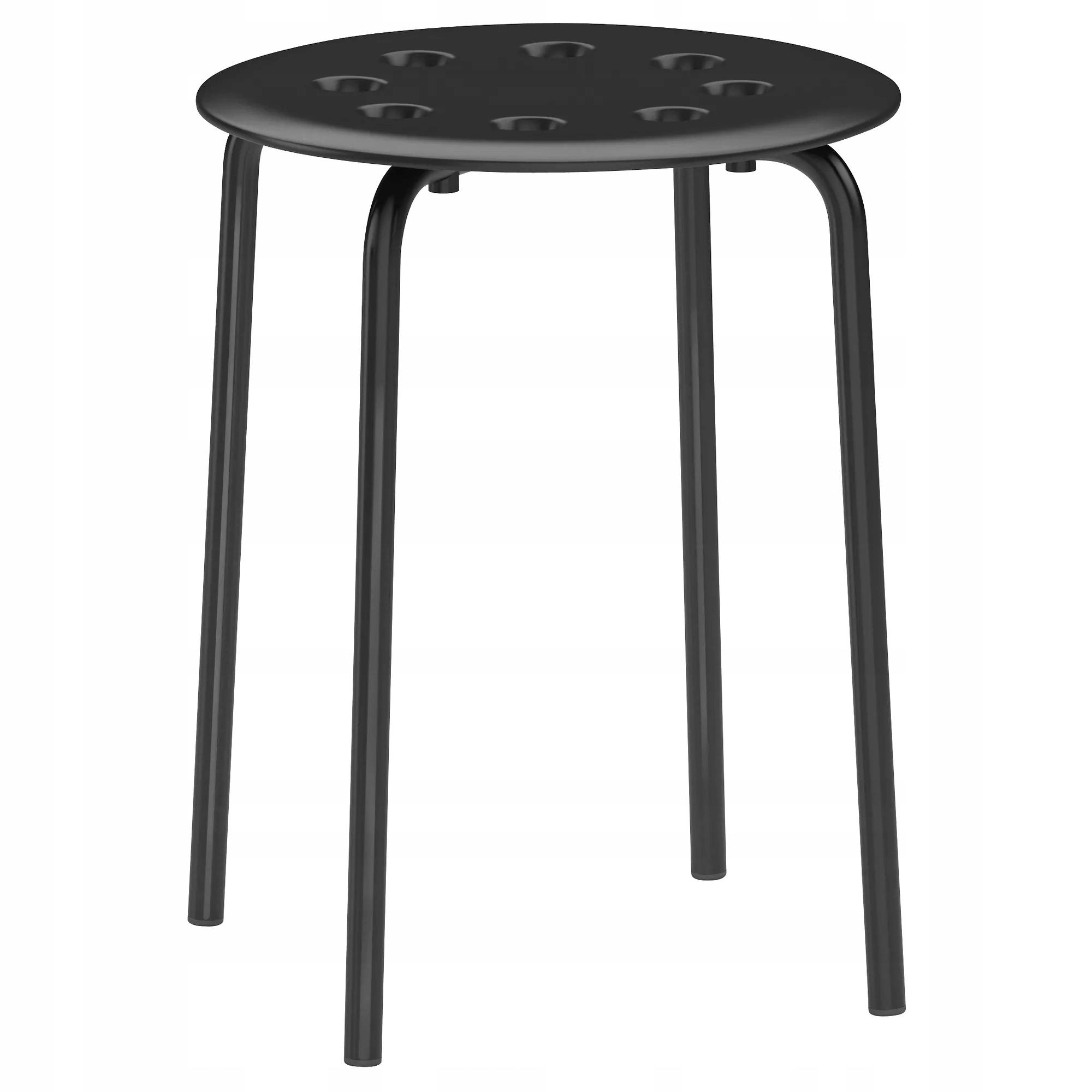 IKEA MARIUS Stołek Taboret Krzesło Kuchenne CZARNY