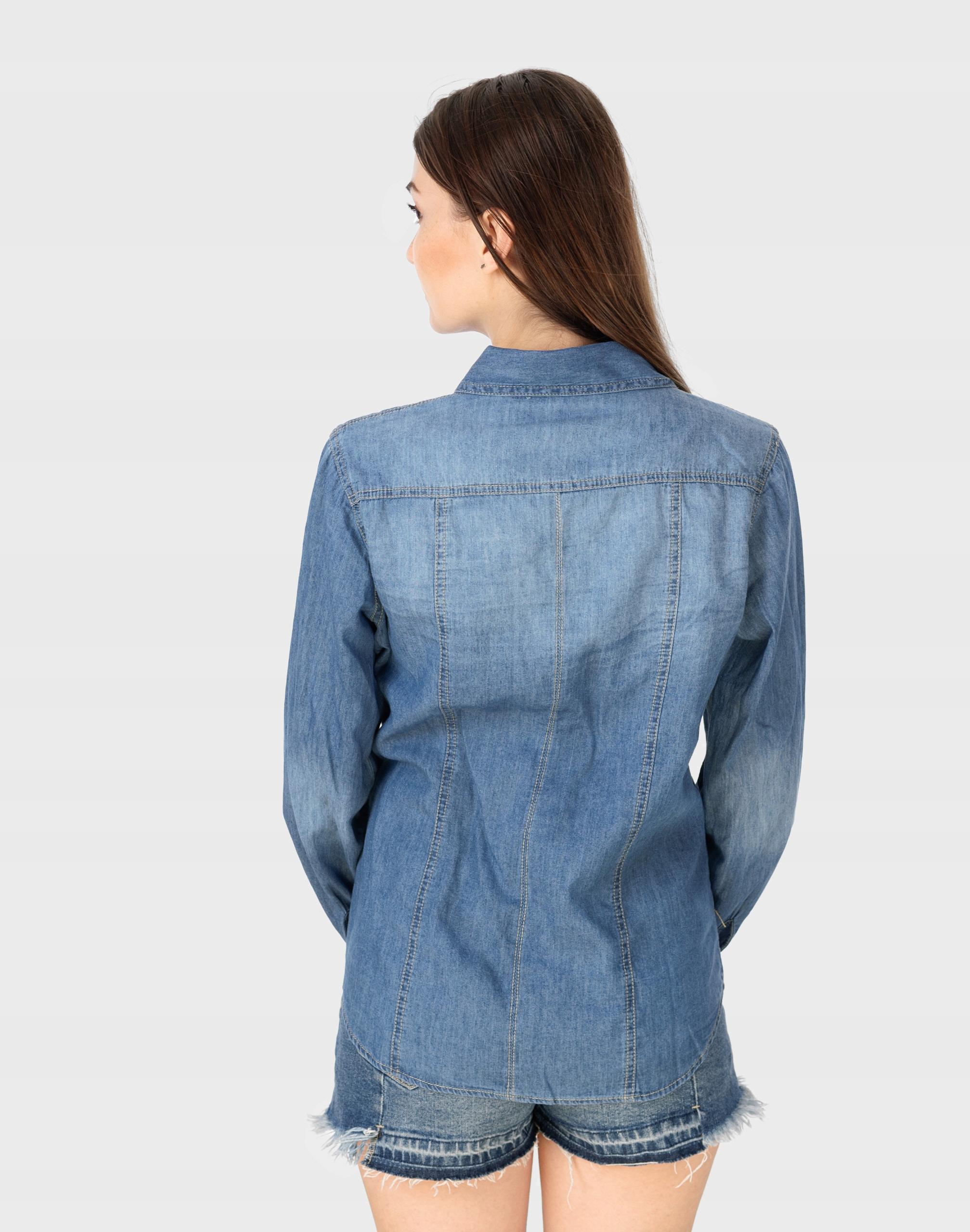 Koszula Damska Jeansowa Bluzka Dżinsowa Y003 r L 7517116047  aLyC7