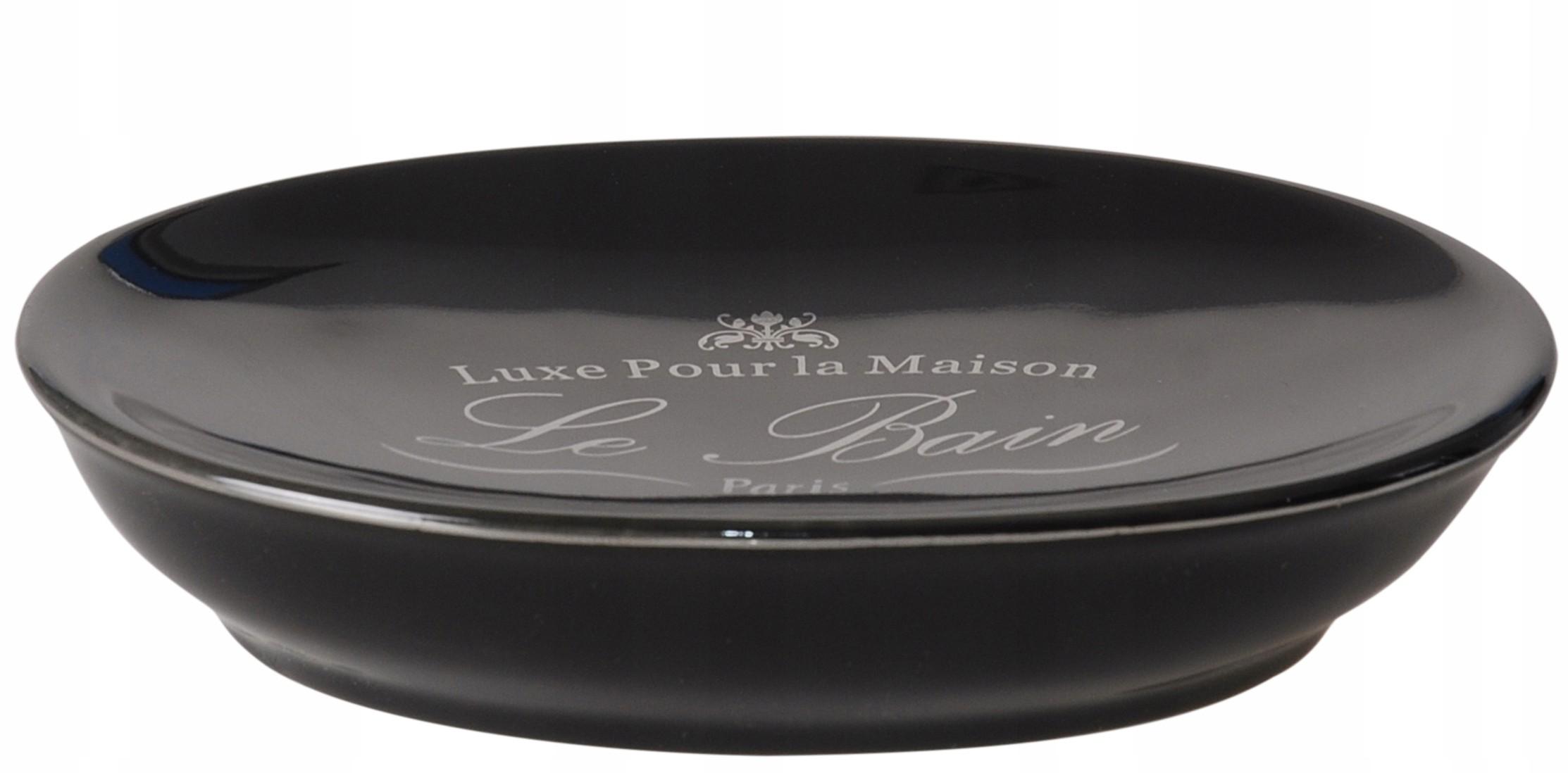 Oválne mydlo jedlo black PORCELÁNU RETRO štýle