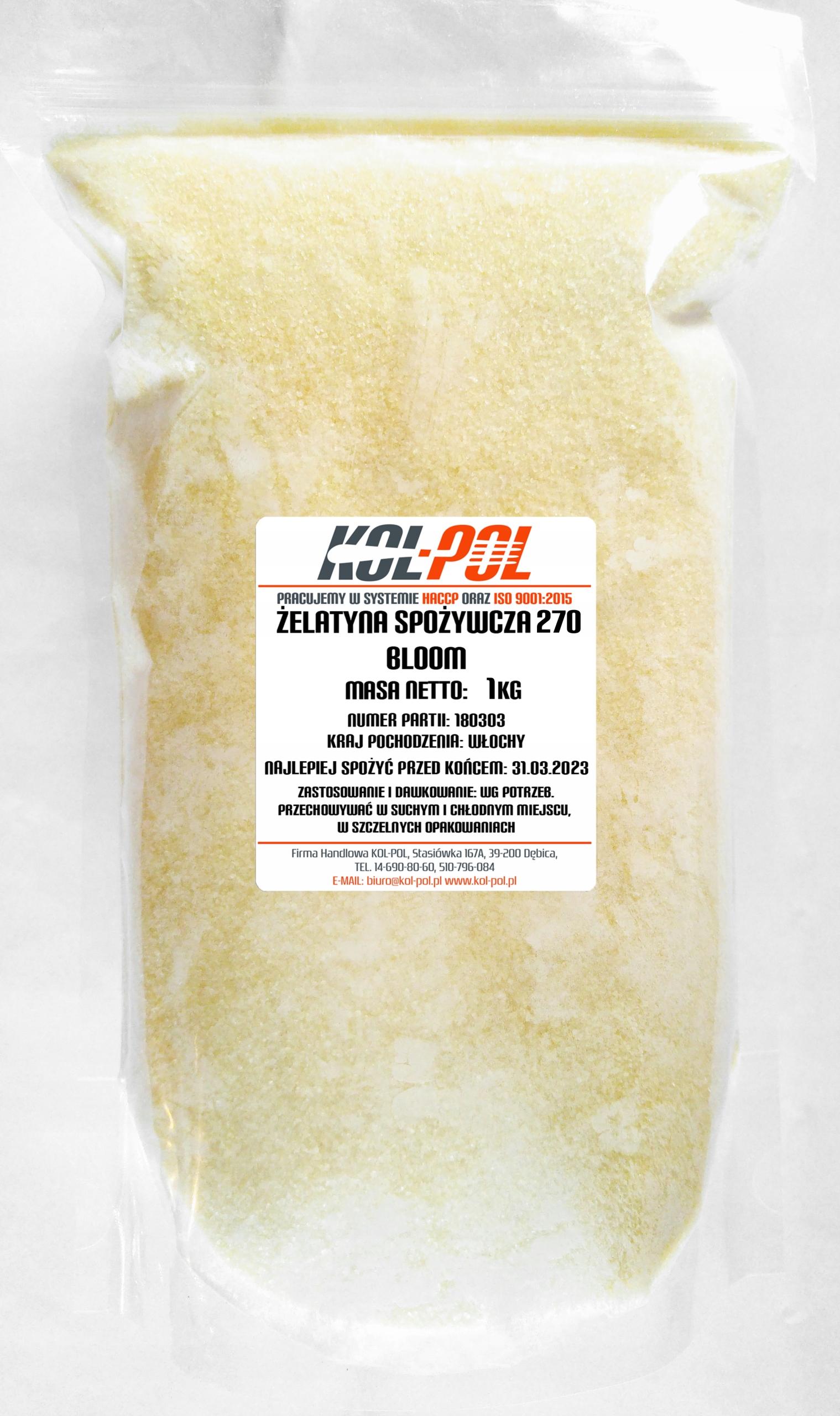 Jedlo želatína, BLOOM 270 1 kg