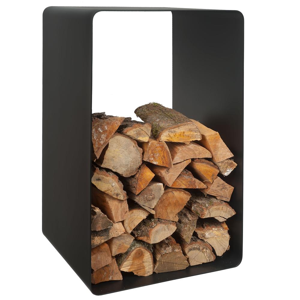 DEKORTA stojak na drewno kominkowe ARVE czarny