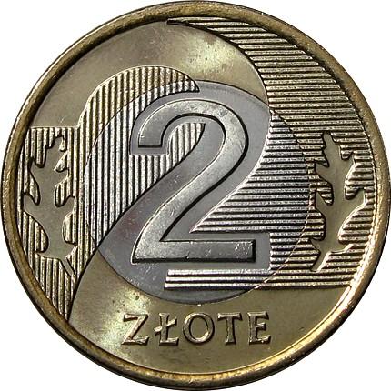 2 zł złote 2006 mennicza z worka lub rolki