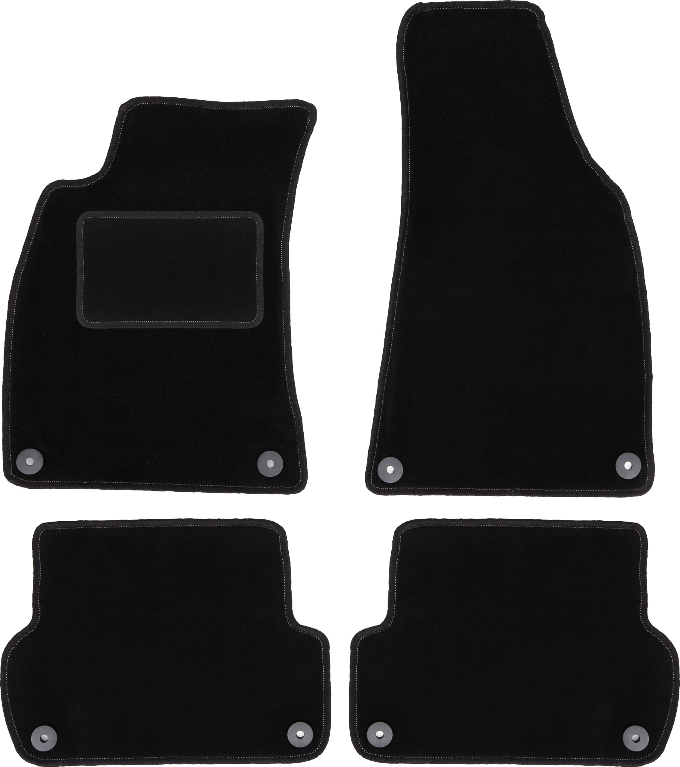dywaniki CARLUX czarne Audi A4 B6 / B7 + stopery