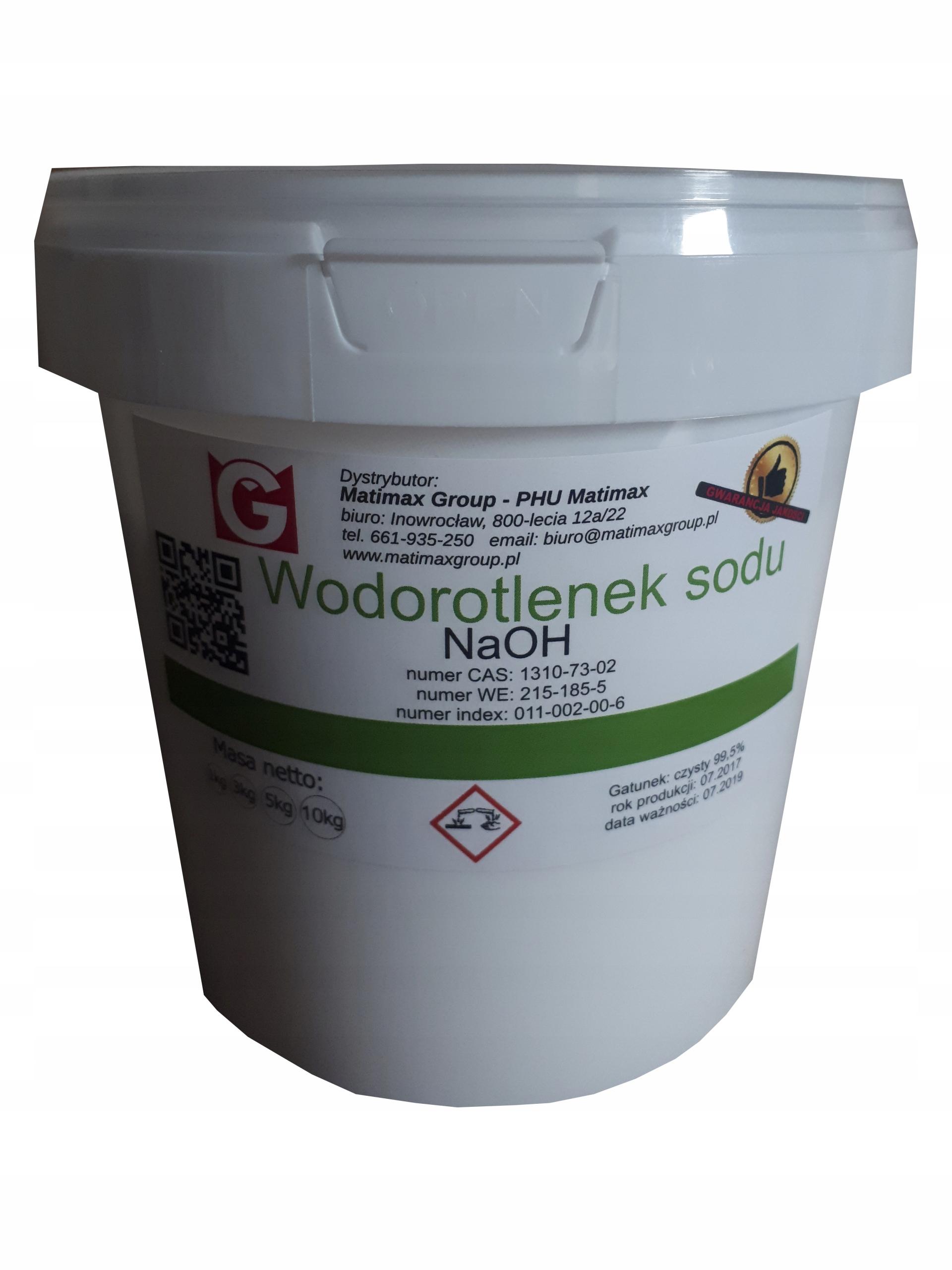 WODOROTLENEK SODU Soda Kaustyczna czyst gran 1 kg