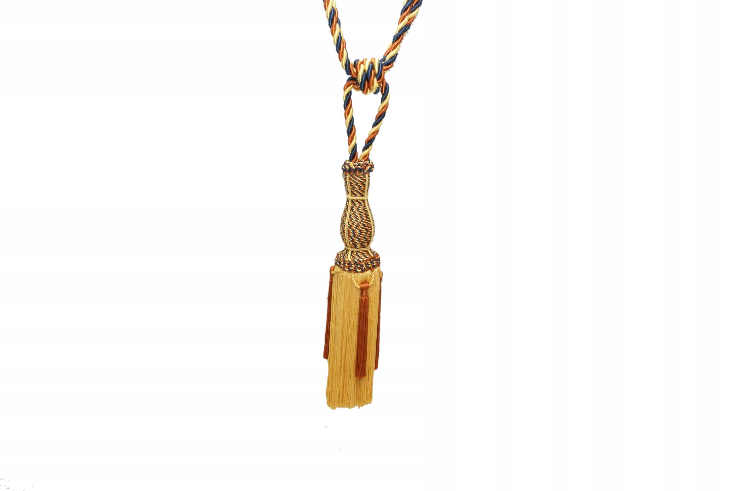 Chwost , шнурок декоративный ВЕГАСЕ GRANATOWO-золото -рыжий