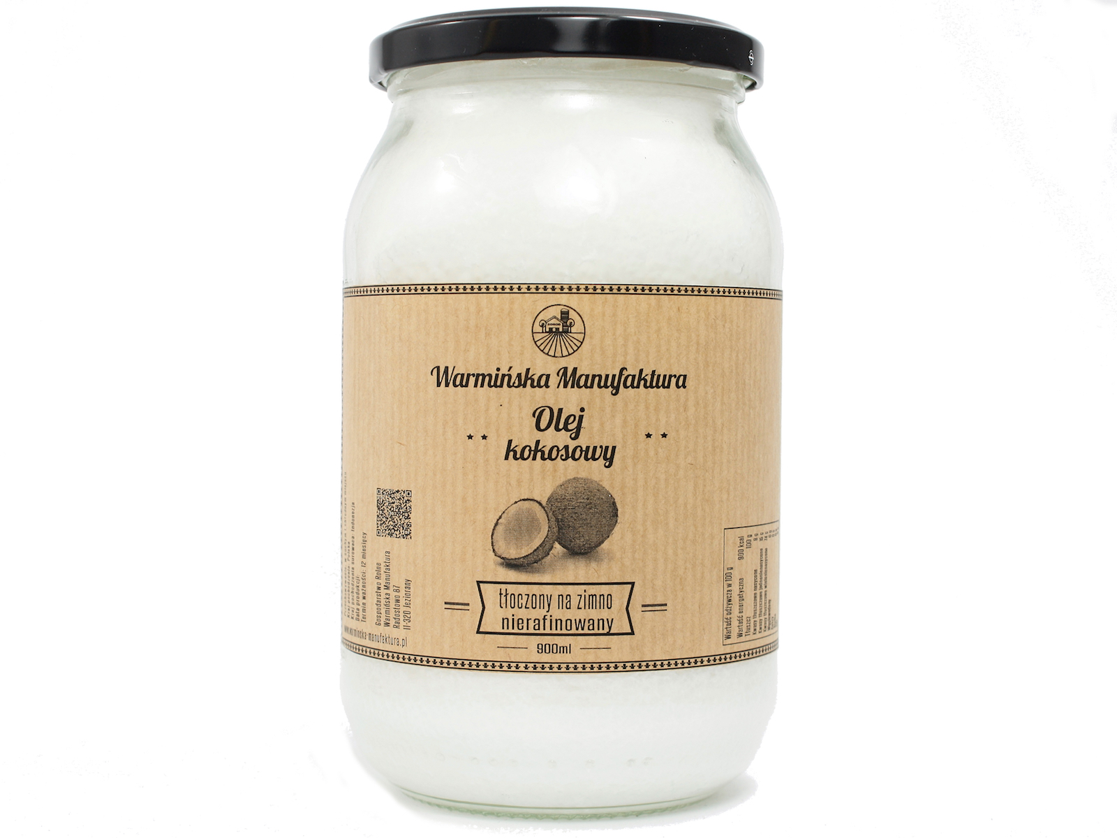 Item Coconut oil 900ml nierafinowany was the most important trading post of Manu.