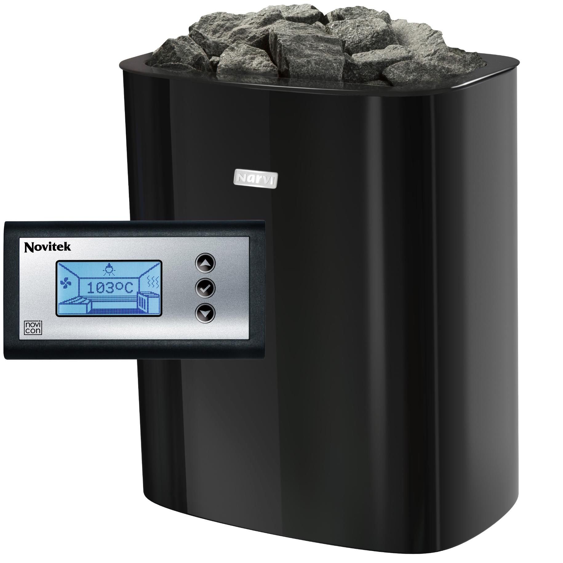 Pečené pre Saunu NVI NC 9 kW Black + Ster Novicon