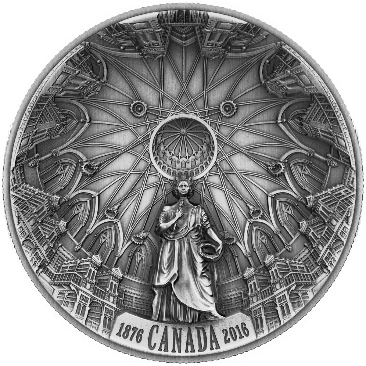 Kanada 2016 - 25 $ výročie knižnice Parlamentu