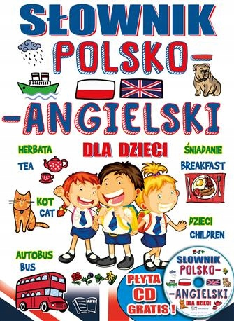 Item DICTIONARY POLISH ENGLISH FOR CHILDREN WITH CD, the Hit