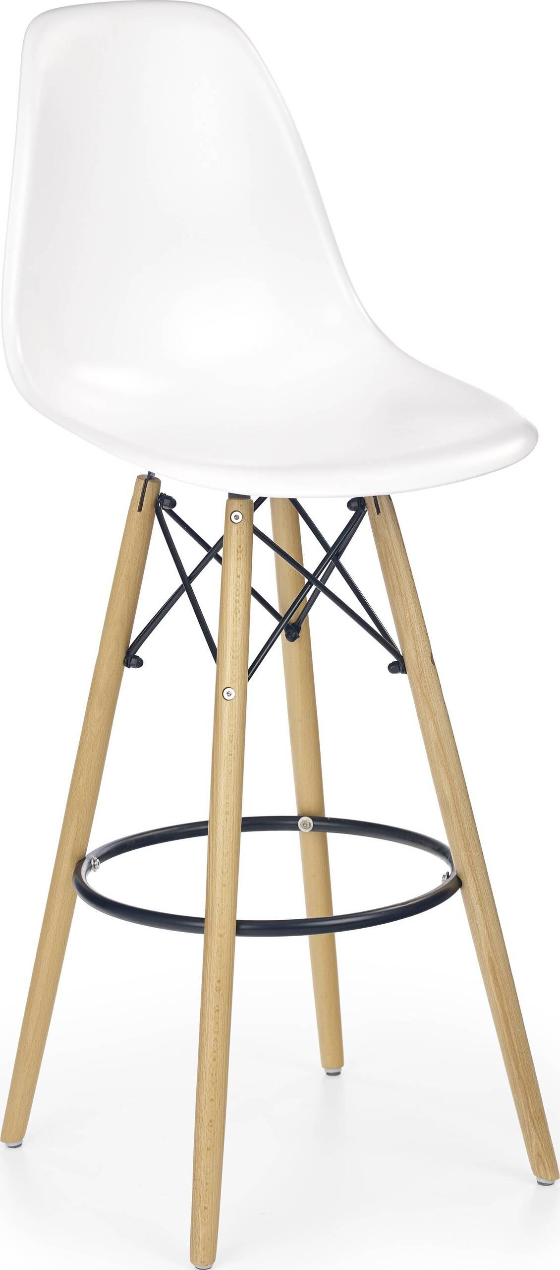 Her h-51 bar kreslo s vysokou stolice white-buk