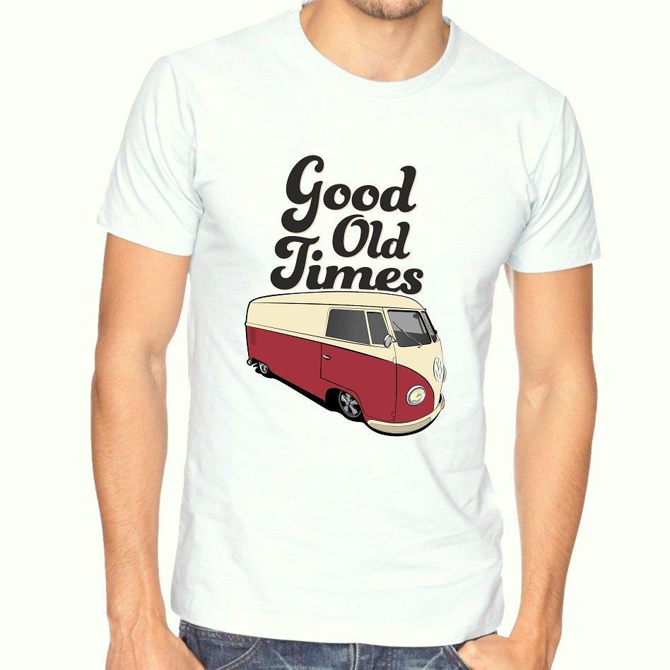 T-tričko T-shirt VW T1 T2 Ogór Retro Vintage white