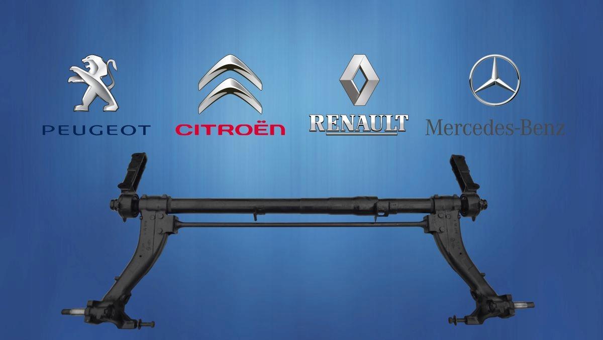 БАЛКА ЗАДНЕГО моста Renault Megane, Универсал, Барабан, с ABS изображение 2