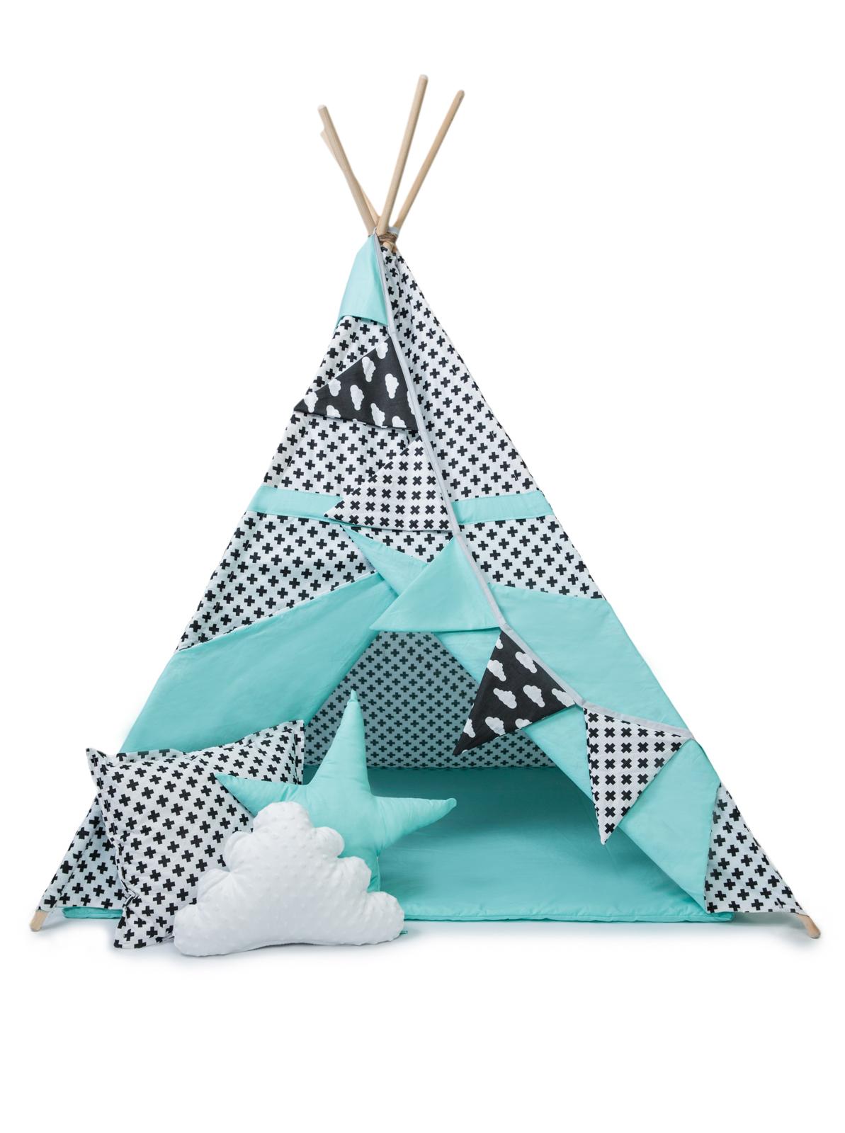Dreamland* закрывается палатка tipi ВИГВАМ мега комплект