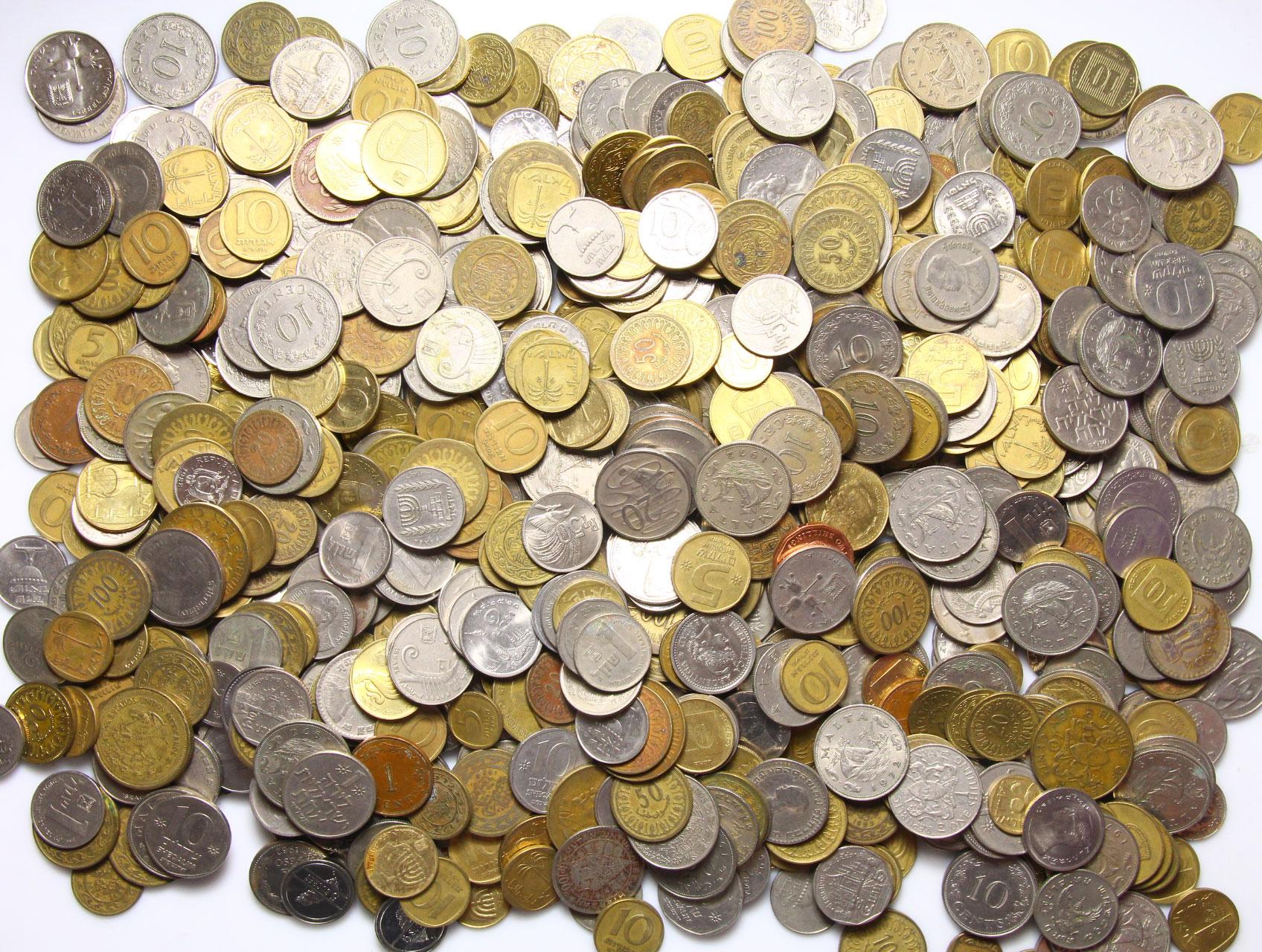 Экзотические Монеты килограммы - комплект 1 КИЛОГРАММ