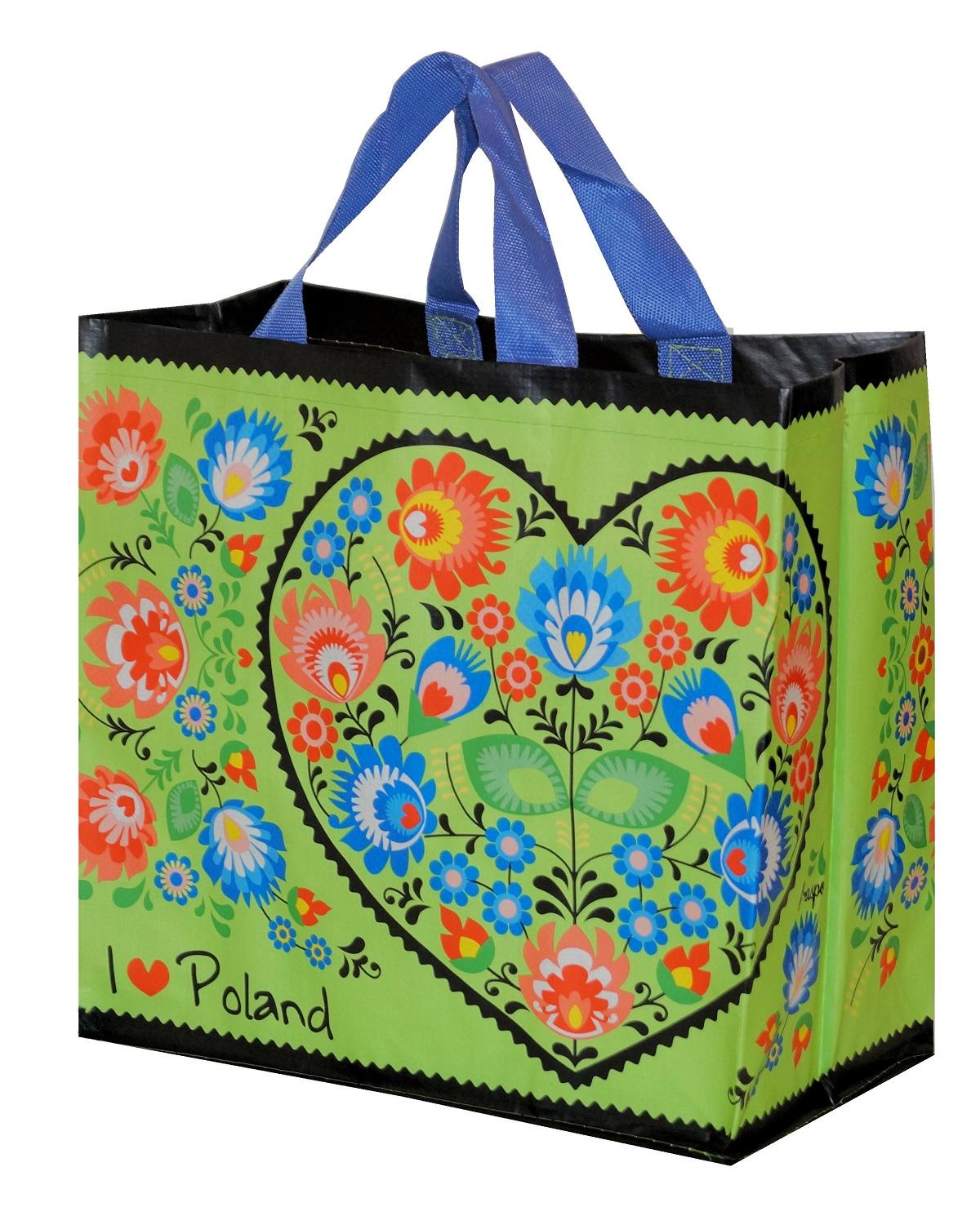 db0b1b0da52e5 TORBY FOLK - I LOVE POLAND - torebki na zakupy 6988045977 - Allegro.pl