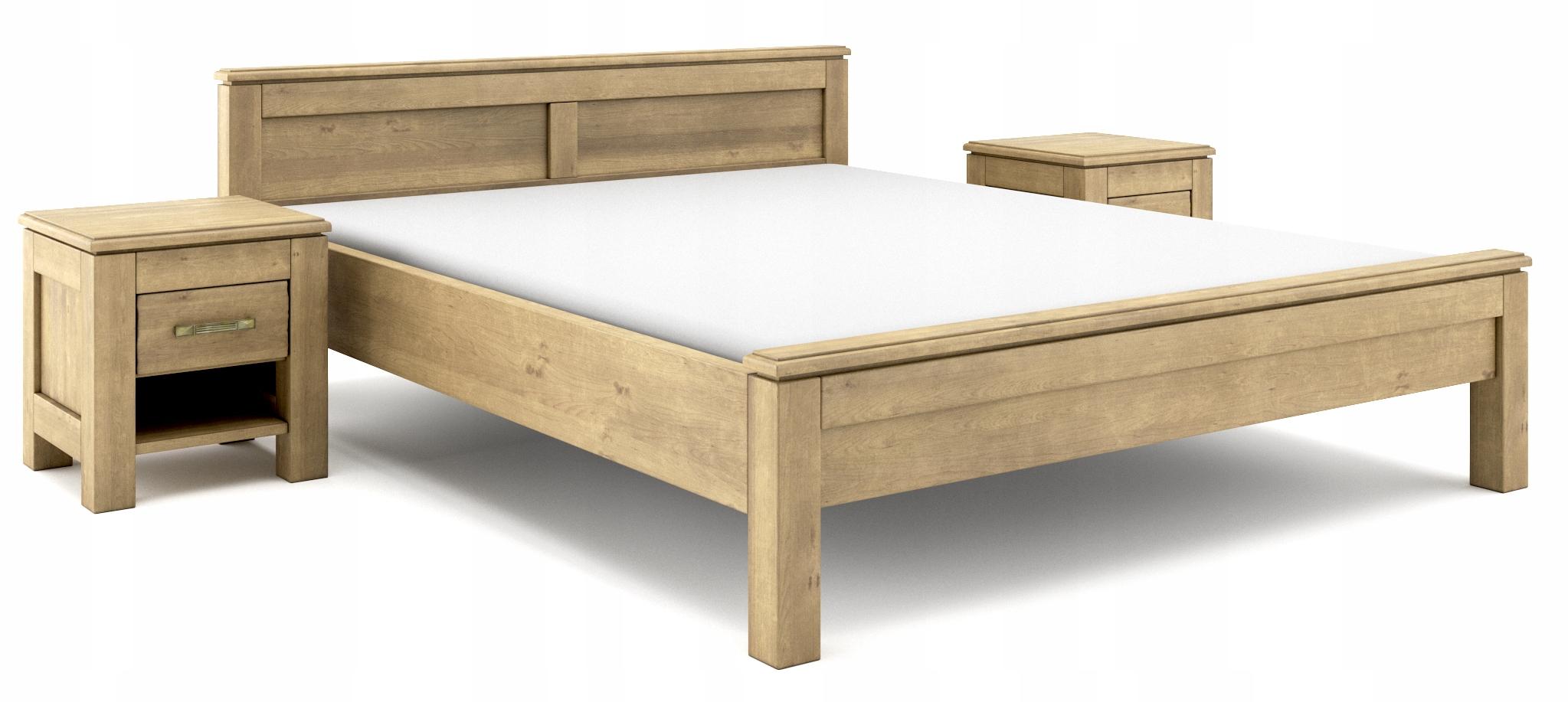 80x200 posteľ Vintage nábytok z brezy - postarzane