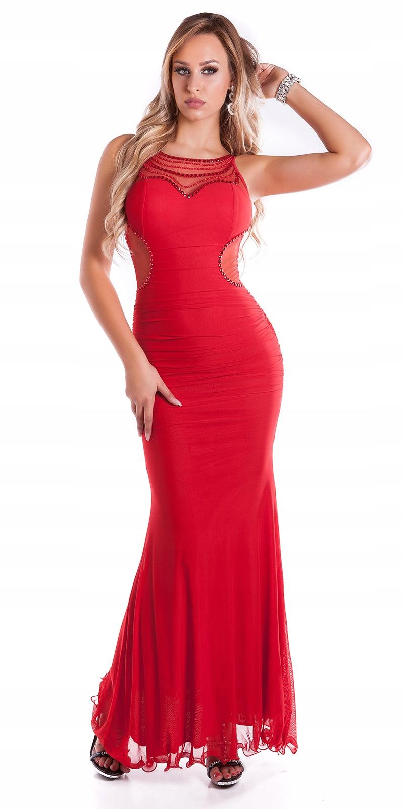 suknia sukienka wieczorowa WESELE 36 S na JUŻ.