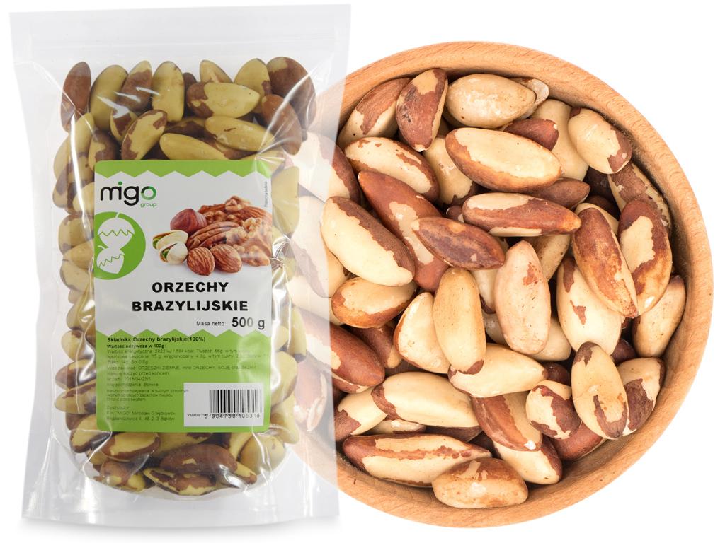 Orzechy BRAZYLIJSKIE 0 5 kg naturalne  MIGOgroup
