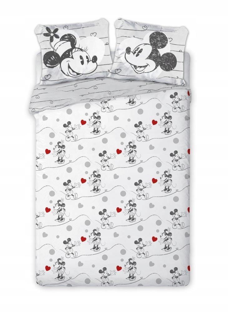 Posteľná bielizeň 160x200 + 2x70x80 Mickey Mouse a Minnie