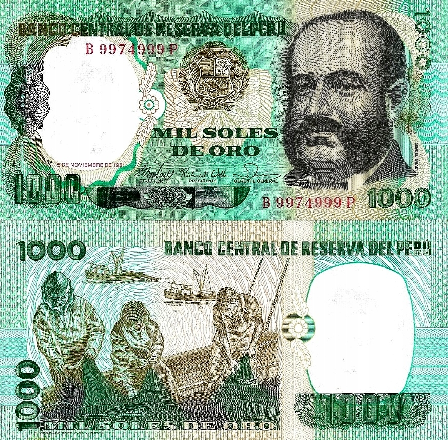 # PERU - 1000 SOLES DE ORO -1981- P-122 - UNC