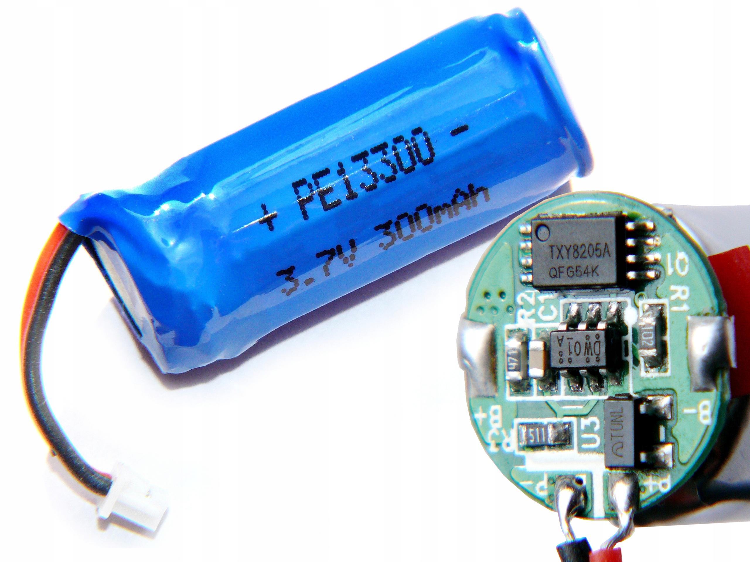 Item Battery Li-Pol 3.7 V 300mAh electronic protection