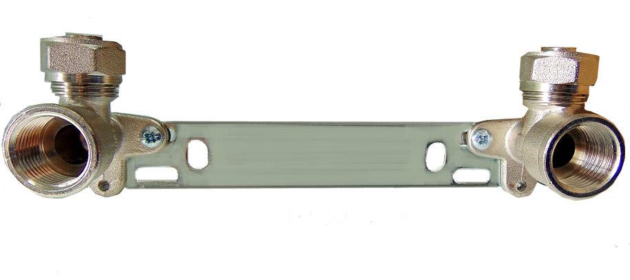 Планка pex локти 16x1/2 GW 15см ip099 болтами