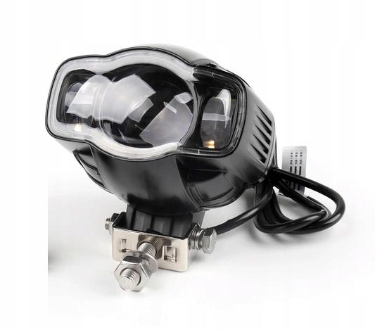 REFLEKTOR LAMPA MOTOCYKLOWA MOTOR LED CREE USB 3w1