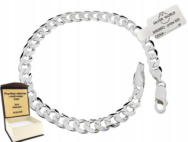 Item ELEGANT MEN's Bracelet SILVER 925 + ENGRAVER