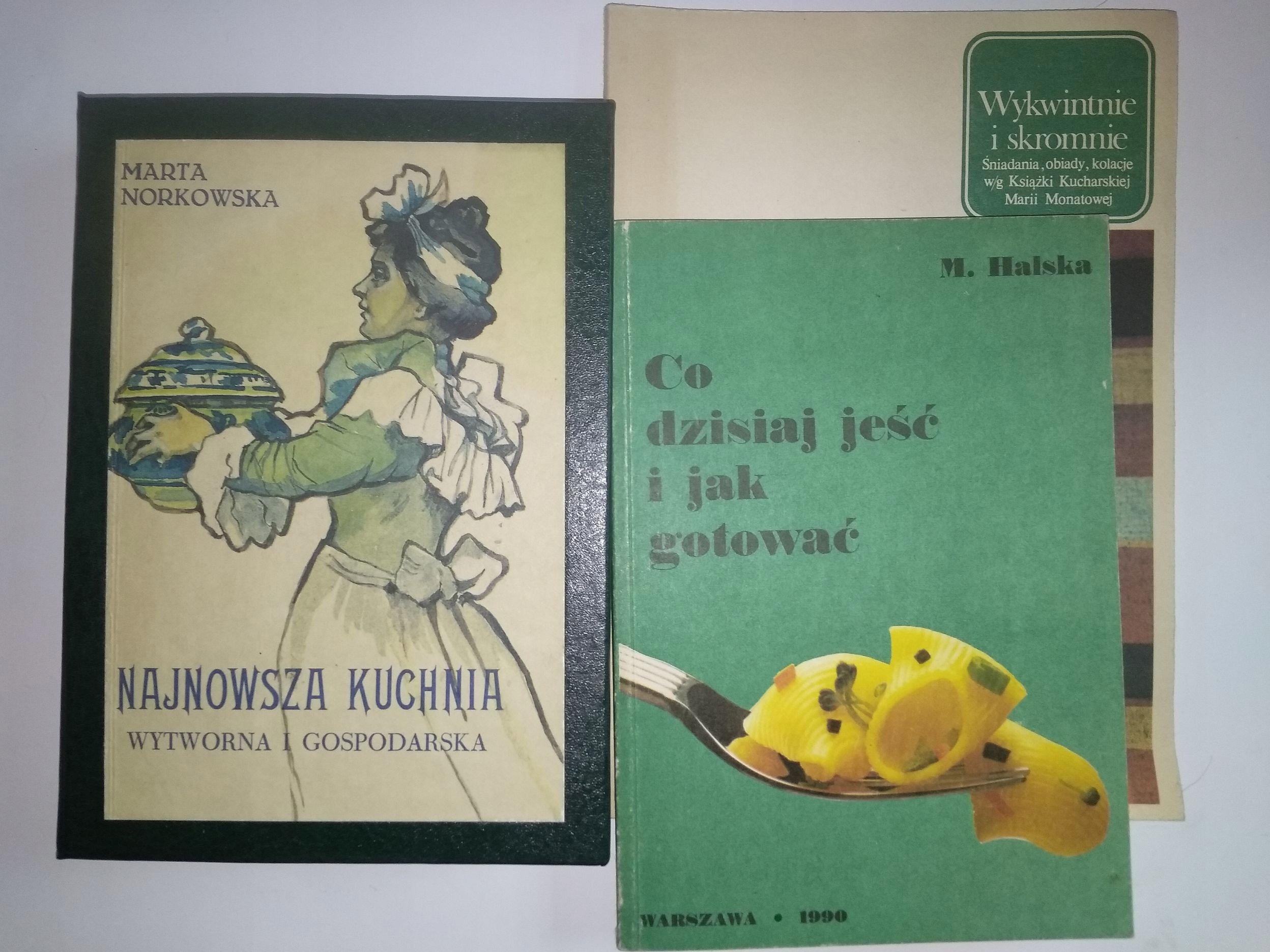 Najnowsza Kuchnia Wytworna Reprint 3 Książki