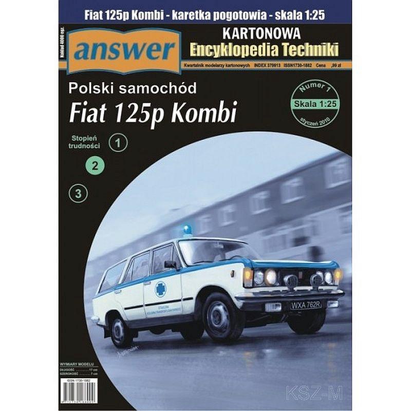 Odpoveď 1/10 Auto Fiat 125p Kombi Ambumer 1:25