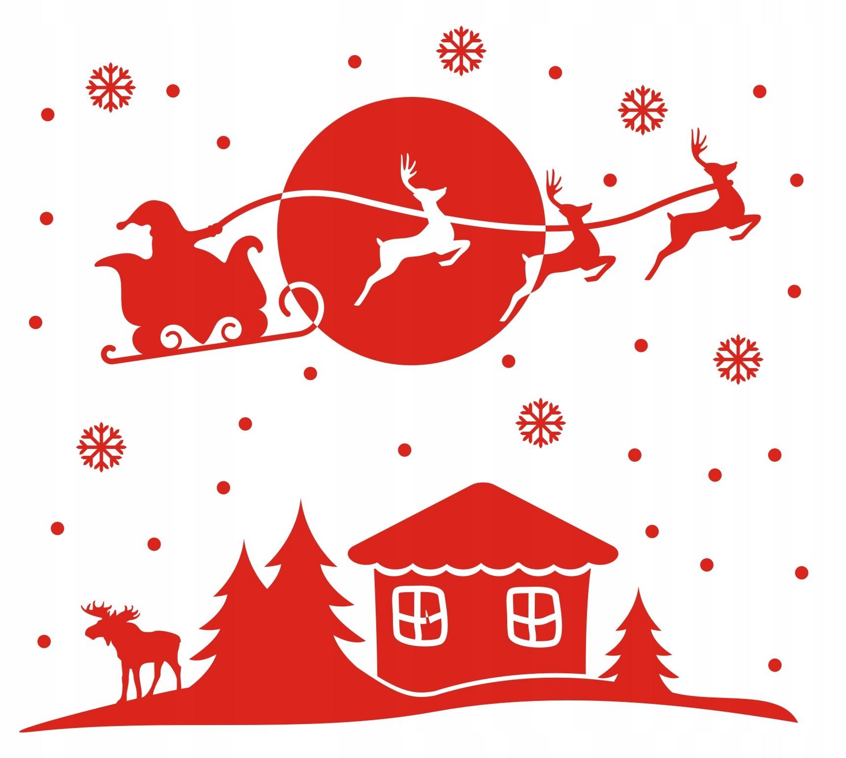 Vianočné samolepky na okennej vločke