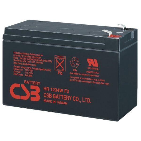 ХИТ! Гелевая батарея CSB HR1234W 12V 9Ah 7LAT FV