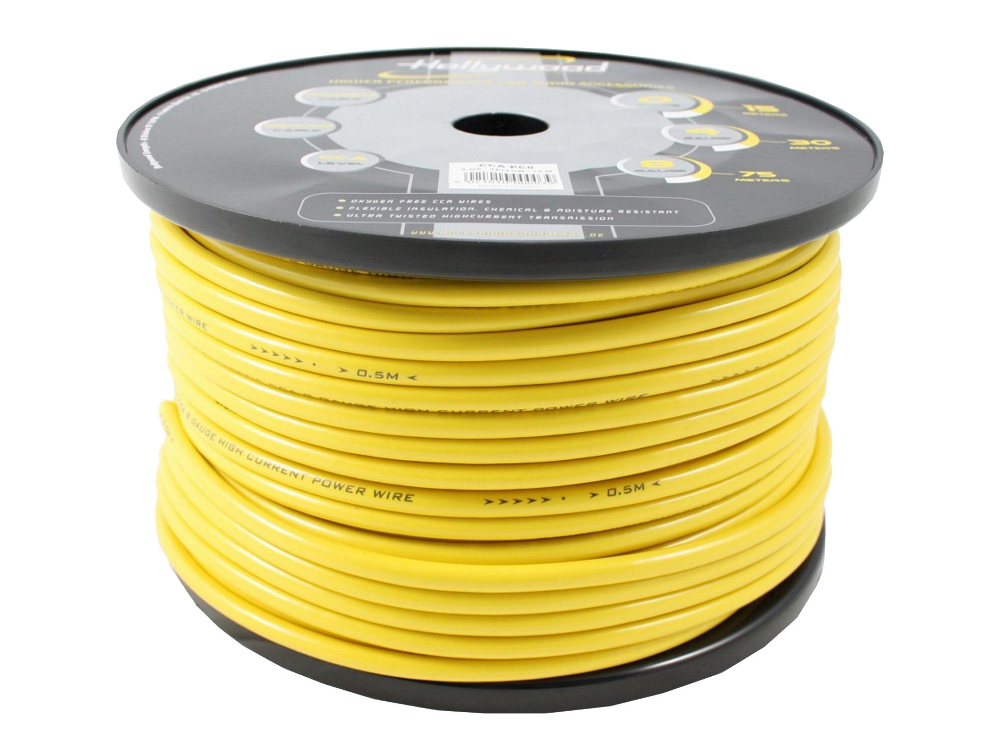 Napájací kábel 8ga hw cca pcy8 žltá