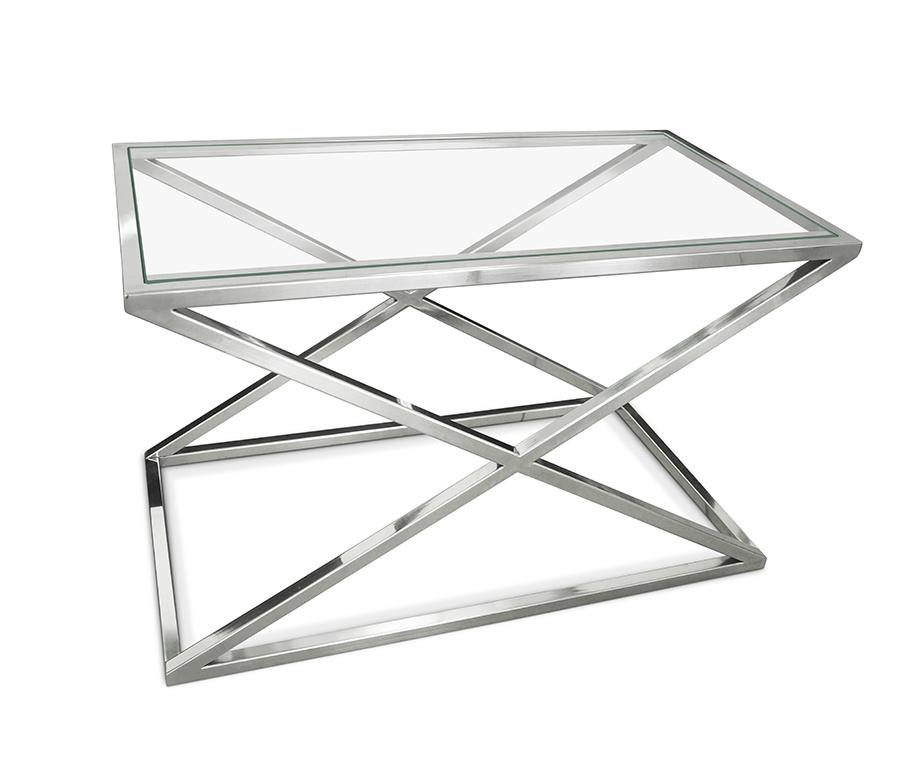 Konzoly Kríž 80x30 OČARUJÚCE skla a ocele Toaletný stolík