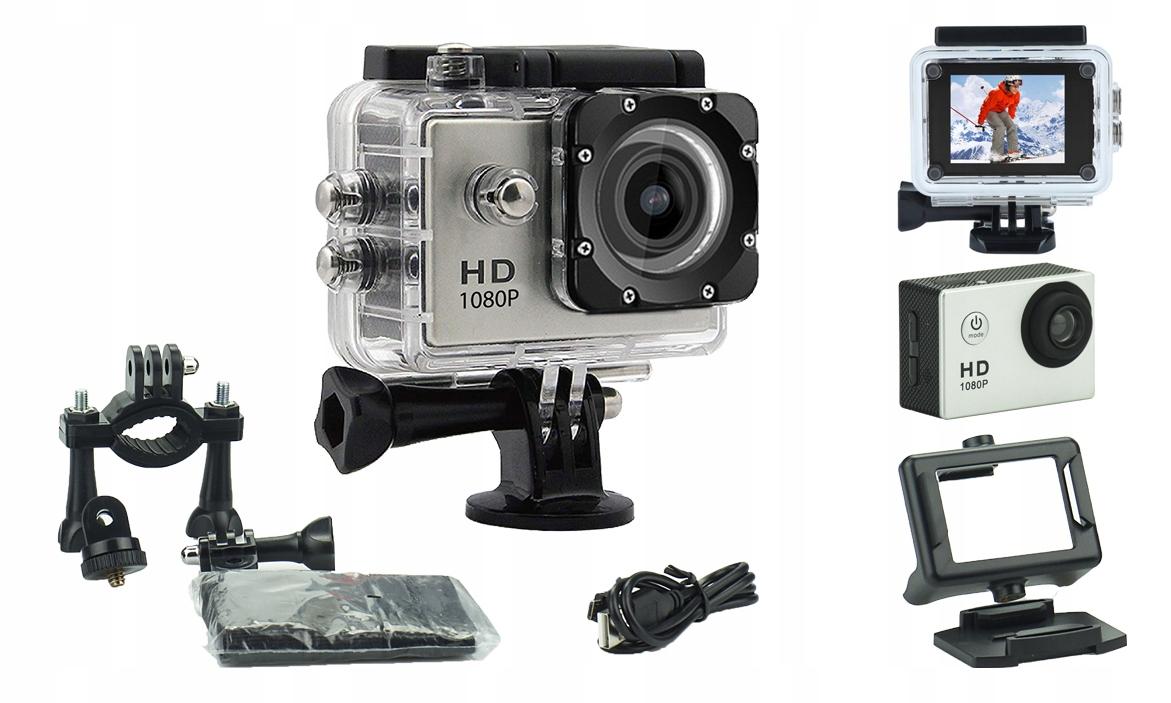 Športový fotoaparát so sadou IT rezistentného Full HD Pro