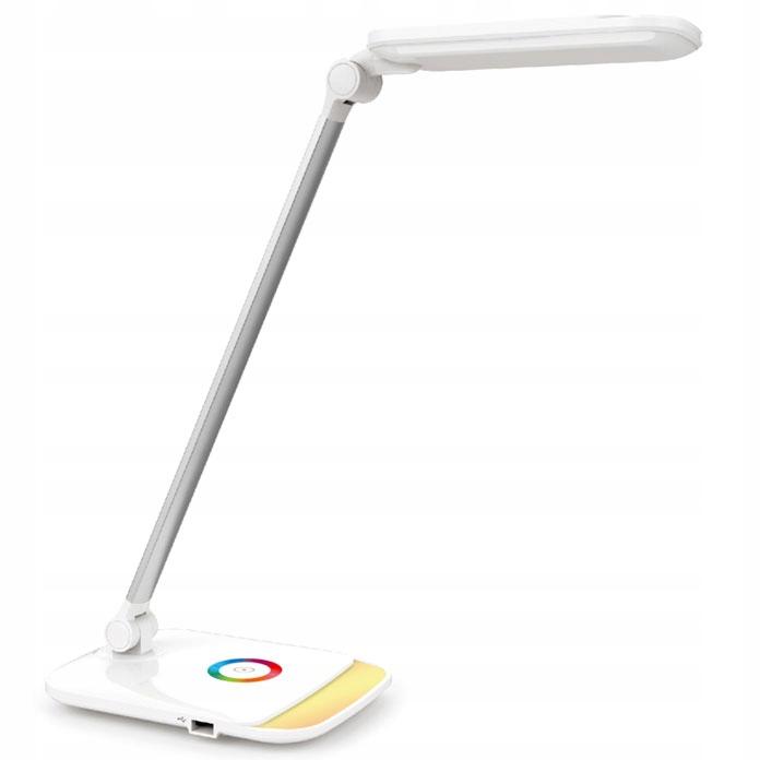Lampka biurkowa biurko nocna 2w1 LED 12W RGB +USB