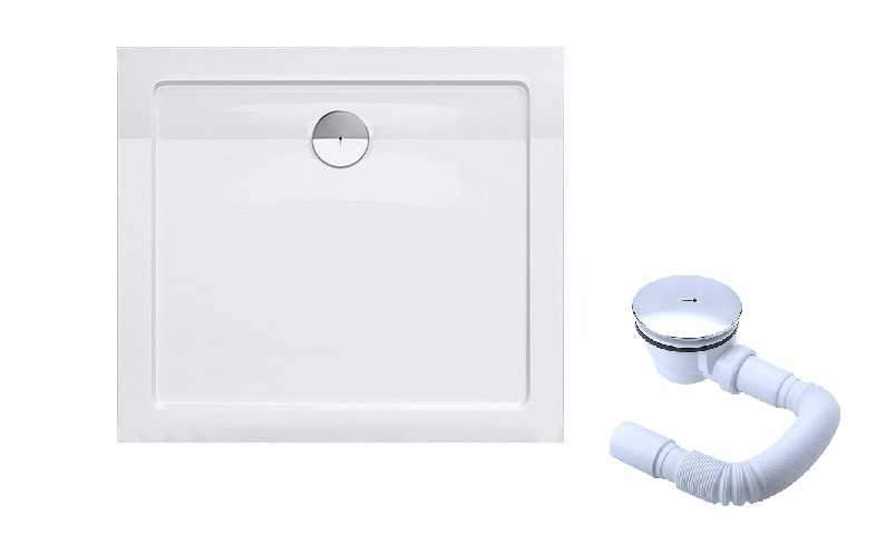 Nízka obdĺžniková sprchová vanička Liniger + sifón 100x120