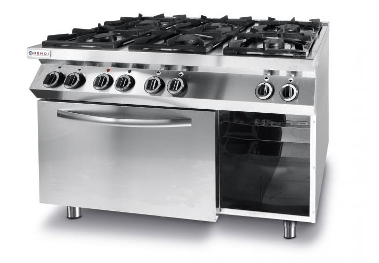 6-horáková plynová kuchyňa s konvekčným sporákom