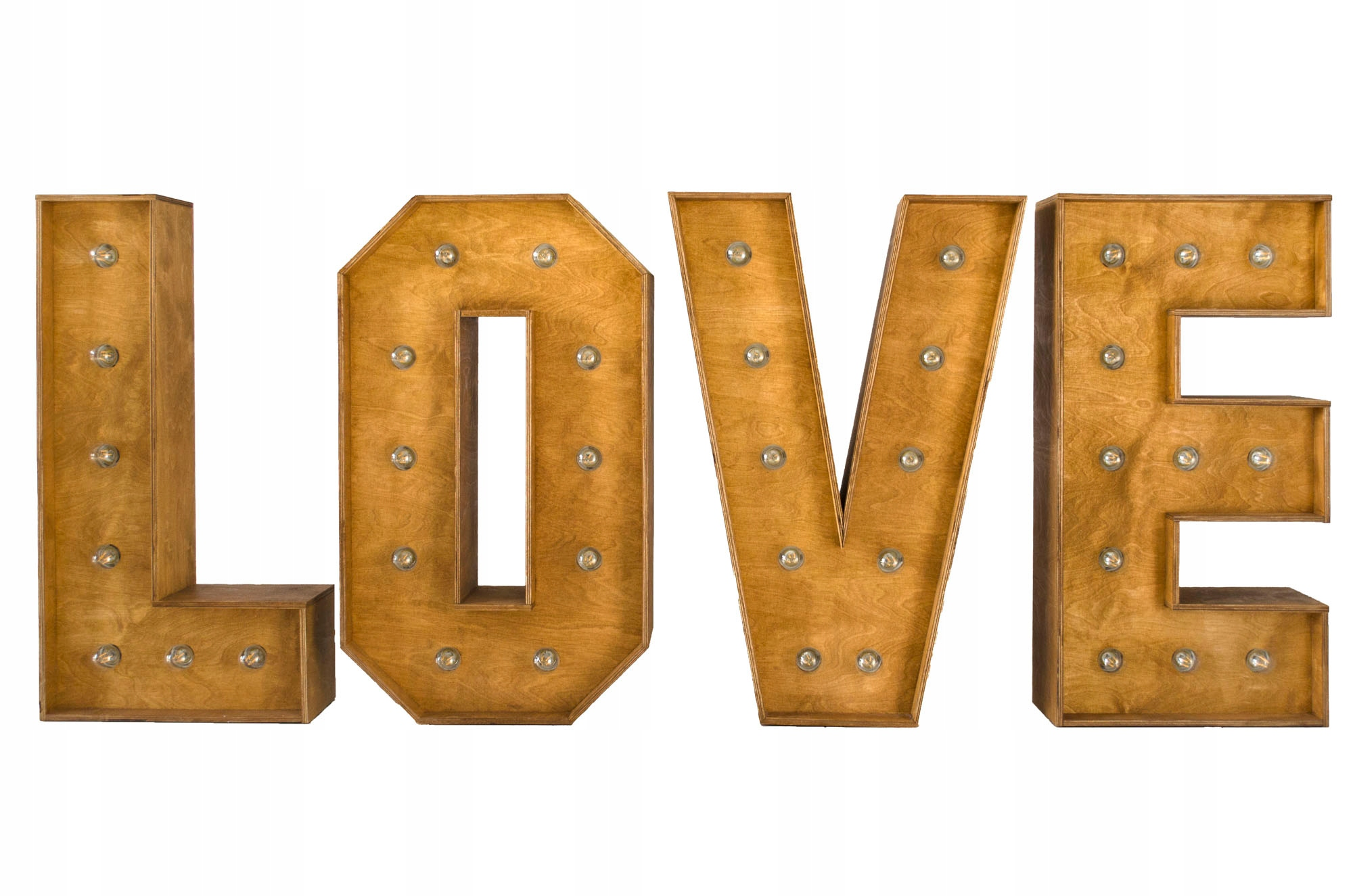 Značka WOODEN LOVE so 100 cm retro LED žiarovkami