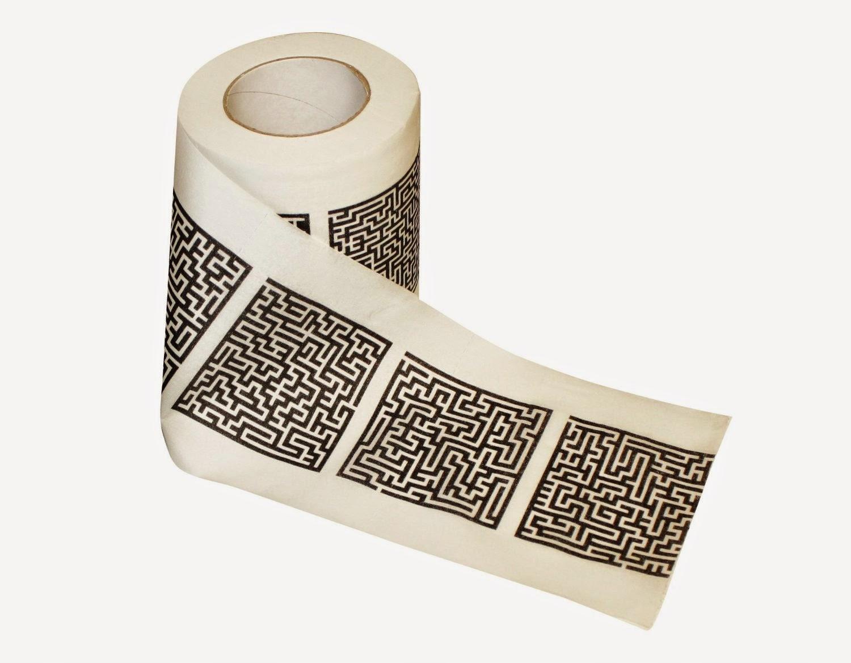 Лабиринт из туалетной бумаги