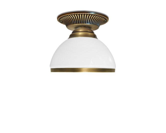 Klasické mosadzné lampa, nízky, krátky SeriaR