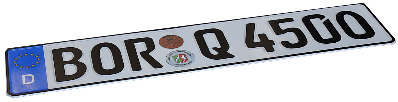 Немецкие наклейки для номерных знаков БЕСПЛАТНО