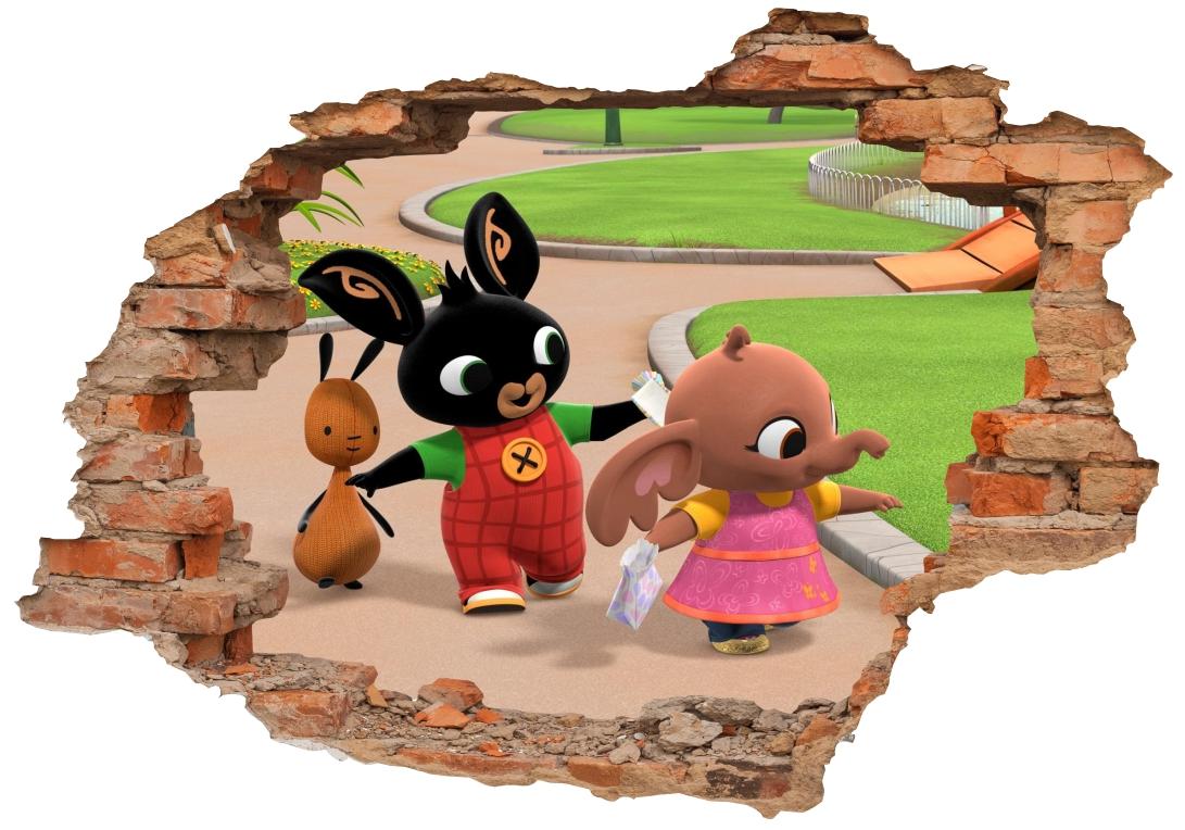 Samolepky na stenu 3D Rabbit Bing FAIRIES 160x110cm