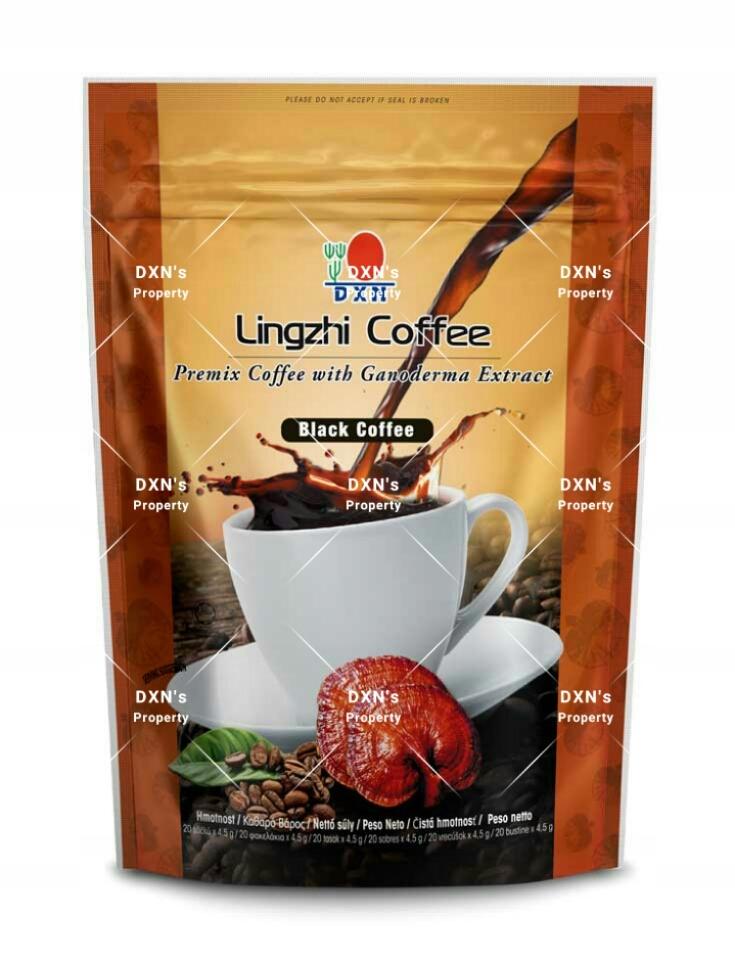 Čierna káva s Ganoderma DXN 20 tašky